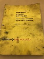 Sperry New Holland TR75 TR85 Combine Service Parts Catalog Manual Book 1982 Ford