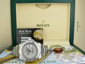 ROLEX Mens Platinum & Stainless Steel YachtMaster Box Books 16622 SANT BLANC
