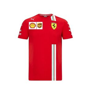 NEW 2021 Scuderia FERRARI F1 Charles LECLERC Team T Shirt Tee MENS Red OFFICIAL