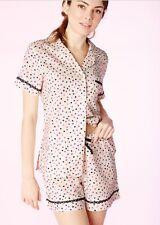 $114 NWT BEDHEAD LARGE 12-14 Ticker Tape Poplin Classic Shorty Pajamas Bed Head