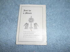 RELIGIOUS - VINTAGE BOOKLET - JUST A MINUTE BY PENNA. CATHOLIC WOMEN'S UNION
