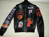 Original Philipp Plein Leather Jacket with patches, Lederjacke 4.998 Euro