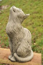 Merveilleux Moon Gazing Cat Stone Garden Ornament (Jezz)