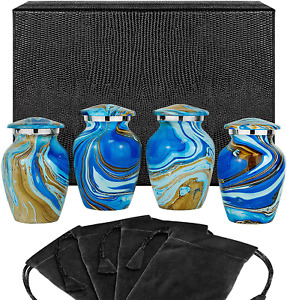 New ListingOcean Tides Beautiful Small Keepsake Urn for Human Ashes - Set of 4 Urns - Find