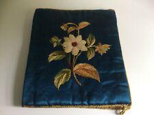 Antique Edwardian 'Sweetheart' Silk/ Embroiderd Handkerchief Holder -Textile - 5