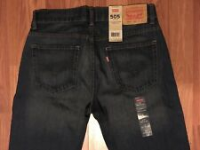 BRAND NEW w/Tags Mens LEVIS 505 Jeans Dungarees Pants Size 18 Reg W 29 L 29