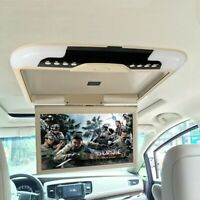 "13"" LCD Car Ceiling Flip Down Overhead Roof Mount Digital Wide Monitor Screen TV"