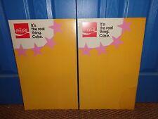 Pair of Vintage Store Cardboard Advertising Displays for Coca Cola, Coke