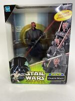"Star Wars Power of the Jedi ""Mega Action Darth Maul"" POTJ Lightsaber Attack New!"