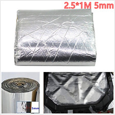 2.5x1M 5mm Car Hood Engine Door Deadener Heat Shield Insulation Soundproof Mats