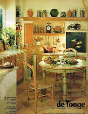PUBLICITE ADVERTISING 045  1994   DE TONGE  cuisines meubles