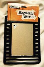 Magnetic School Locker Framed Mirror Black Supplies