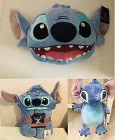 Disney Stitch Cushion 3D Cute Cushion Hooded Throw Hot Water Bottle Primark