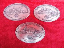 3 schöne placas__Reunión de Oldtimer Bad Sassendorf__metal__