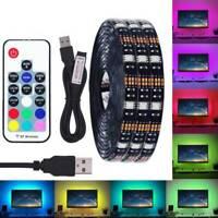 0.5M-3.0M 5050 RGB LED Strip Waterproof USB LED Light Strips Flexible Tape DC 5V