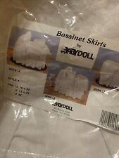 Babydoll bassinet skirt white lace eyelet 13 X 29