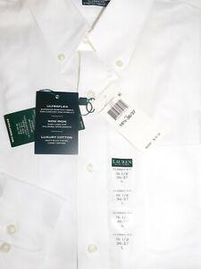 LAUREN RALPH LAUREN Ultraflex Dress Shirt Classic Fit Stretch Non Iron White