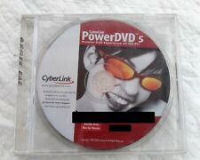 Cyberlink PowerDVD 5 Premiere DVD Experience on the PC CD-ROM 2004 Disc & Case