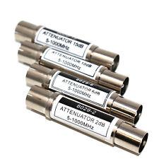 IEC ATTENUATORS KIT 1 x PIECE EACH 2dB 6dB 10dB 15dB IN LINE METAL CONNECTORS