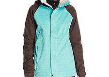 686 Women Smarty Catwalk Snowboard Jacket (S) Tiffany Texture Herringbone