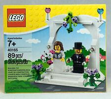 Lego 40165 Wedding Cake Topper Favor Set Bride & Groom Minifigs 2016 NEW