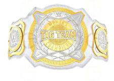 WWE WOMEN TAG TEAM CHAMPIONSHIP BELT 4mm DUAL PLATE ADULT SIZE