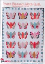 Clearance - Peach Blossom Moth Quilt - pieced quilt PATTERN - Red Brolly
