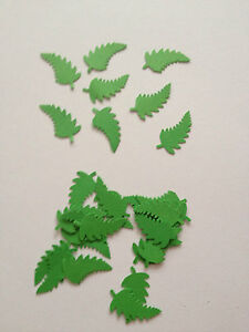 30 Green leaves die cuts, scrapbooking, card making, Table confetti, decoration