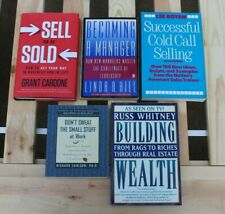 Books on Business - 5 pc - Building Wealth / Selling / Sales / Real Estate