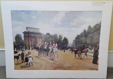 NEW LARGE FELIPPO BARATTI BRAND NEW MILITARY PRINT OF HYDE PARK, LONDON, 1881...