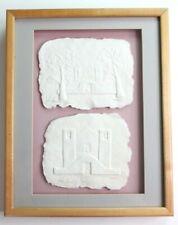 Framed Cast Paper Art Pieces by John Saunders - Taos Pueblo Chimayo 1988