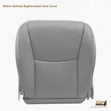 Driver Bottom Replacement Leather Seat Cover Color Gray Fits 2009 Lexus GX470