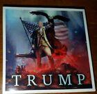 Donald Trump as Patriot George Washington Bald Eagle Funny Sticker 4'×4' TRUMP