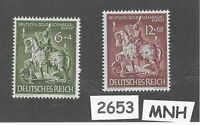 #2653     1943 MNH stamp set / Goldsmiths Society / WWII Germany / Third Reich