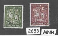 #2653     1943 MNH stamp set / Goldsmiths Society / WWII Germany / Third Reich