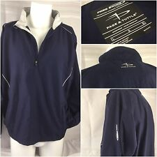 Page & Tuttle Golf Wind Pullover Large Blue 1/4 Zip Free Swing LS YGI 79J