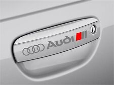4 AUDI Stickers Decals Door handle Wheels Rims Mirror A4 SILVER