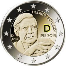 2 Euro Gedenkmünze Deutschland BRD 2018 prägefrisch - Helmut Schmidt - D München