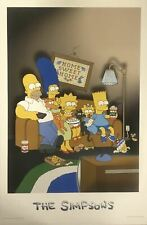 The Simpsons Home Sweet Home Vintage 1998 Poster 22.5 X 35
