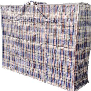 2x Jumbo Taschen Big Bag Aufbewahrung Beutel Sack kariert faltbar leicht groß BL