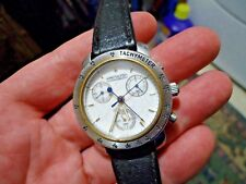 Vintage Swiss Hamilton 27 jewel quartz chronograph Tachymeter Stainless Steel