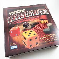 Yahtzee Texas Hold'em Poker & Dice Board Game NEW sealed NIB