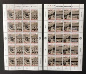Guernesey - 1987,Europa,Moderne Architecture Mini-Feuillets X 2 - MNH - Sg 394/7