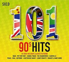 101 90'S HITS 5 CD BOXSET VARIOUS ARTISTS (NINETIES) 2017