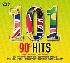 101 90'S HITS 5 CD BOXSET VARIOUS ARTISTS (NINETIES) - NEW RELEASE MAY 2017