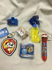 Lot Of 6 Paw Patrol Toy Set-Bubbles Towel Keychain Pen Magic Cube & Photo Viewer