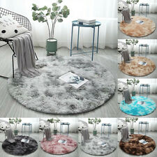 Shaggy Circle Round Area Rug Large Soft Fluffy Carpet Living Room Bedroom Decor