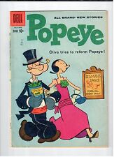 Dell POPEYE #54 July August 1960 vintage comic VG condition