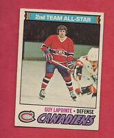 1977-78 OPC # 60 CANADIENS GUY LAPOINTE ALL STAR  CARD
