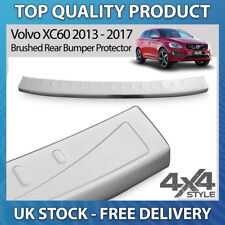 VOLVO XC60 2013-17 BRUSHED STAINLESS STEEL REAR BUMPER PROTECTOR SCRATCH GUARD
